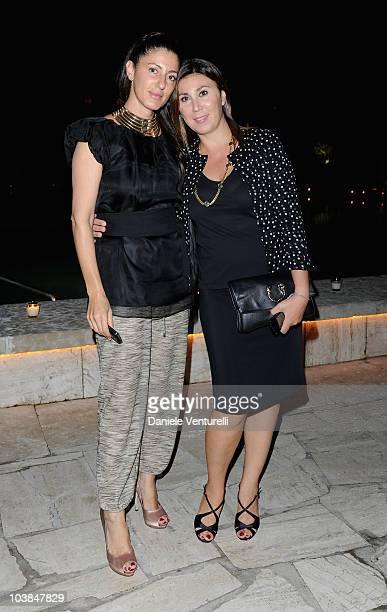 Francesca Leoni and Eleonora Pratelli attend the Bulgari And W Magazine Celebrate The 67th Venice Film Festival Party at the Hotel Cipriani on...