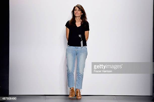 Francesca Liberatore attends the Francesca Liberatore Spring 2016 during New York Fashion Week The Shows at The Dock Skylight at Moynihan Station on...