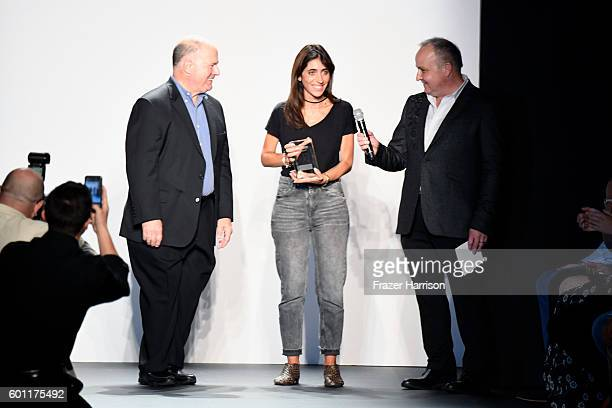 Francesca Liberatore is awarded the DHL Exported Award at the Marist Reprise Francesca Liberatore fashion show during New York Fashion Week The Shows...