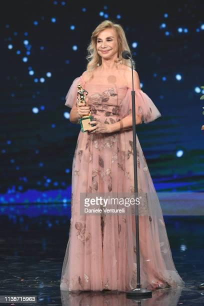 Francesca Lo Schiavo receives the Davide Special award during the 64 David Di Donatello Award Ceremony on March 27 2019 in Rome Italy