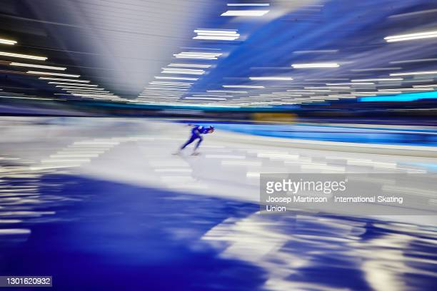Francesca Lollobrigida of Italy competes in the Ladies 3000m during day 1 of the ISU World Speed Skating Championships at Thialf on February 11, 2021...