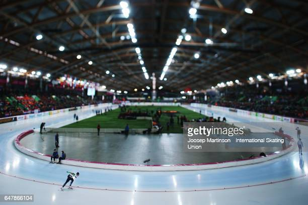 Francesca Lollobrigida of Italy competes in the Ladies 3000m during day one of the World Allround Speed Skating Championships at Viking Skipet Hamar...