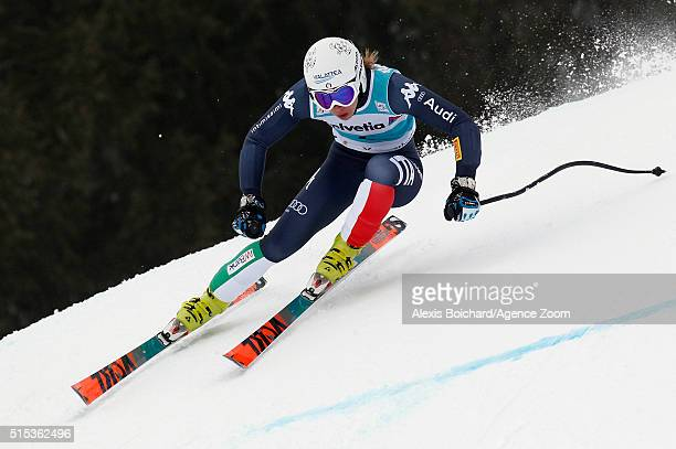 Francesca Marsaglia of Italy competes during the Audi FIS Alpine Ski World Cup Women's Super Combined on March 13 2016 in Lenzerheide Switzerland