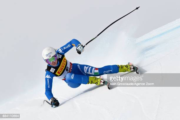 Francesca Marsaglia of Italy competes during the FIS Alpine Ski World Championships Women's SuperG on February 07 2017 in St Moritz Switzerland