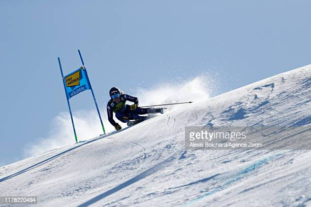 Francesca Marsaglia of Italy in action during the Audi FIS Alpine Ski World Cup Women's Giant Slalom on October 26, 2019 in Soelden, Austria.