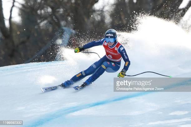 Francesca Marsaglia of Italy in action during the Audi FIS Alpine Ski World Cup Women's Super G on February 9, 2020 in Garmisch Partenkirchen,...
