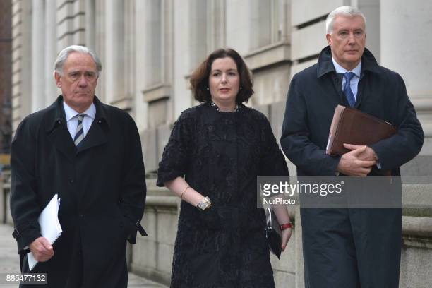 Francesca McDonagh chief executive of Bank of Ireland leaves the Department of Finance after meeting with the Finance Minister Paschal Donohoe in...