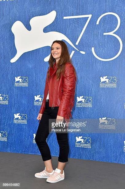 Francesca Michelin attends a photocall for 'Piuma' during the 73rd Venice Film Festival at Palazzo del Casino on September 5 2016 in Venice Italy