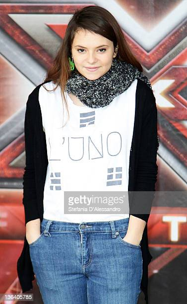 Francesca Michelin attends X Factor Italian TV Show Press Conference on January 4 2012 in Milan Italy