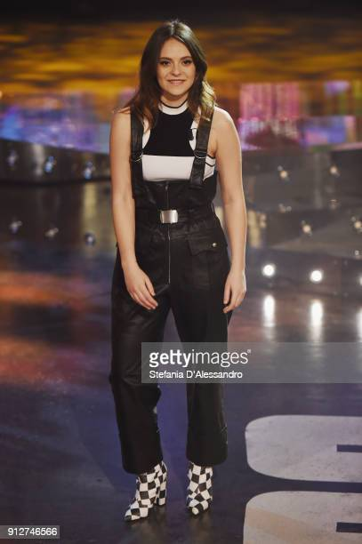 Francesca Michielin attends 'E Poi C'e Cattelan' tv show on January 31 2018 in Milan Italy