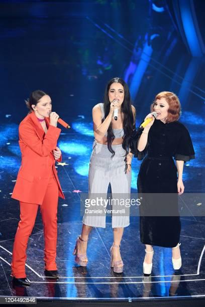 Francesca Michielin Levante and Maria Antonietta attend the 70° Festival di Sanremo at Teatro Ariston on February 06 2020 in Sanremo Italy