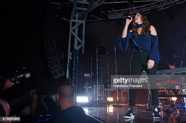 Francesca Michielin performs on stage on October 6 2016 in Milan Italy