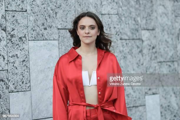 Francesca Michielin poses on June 5 2018 in Milan Italy