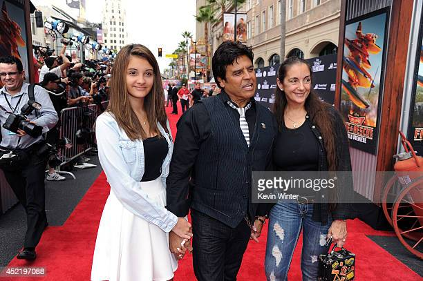 Francesca Natalia Estrada actor Erik Estrada and Nanette Mirkovich attend the premiere of Disney's Planes Fire Rescue at the El Capitan Theatre on...