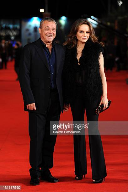 Francesca Neri and Claudio Amendola attend the Il Cuore Grande Delle Ragazze premiere during the 6th International Rome Film Festival on November 1...