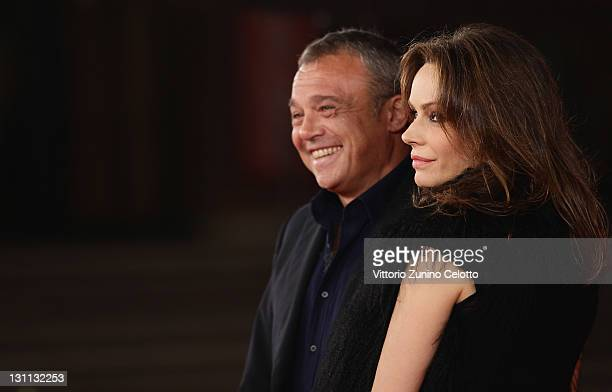 Francesca Neri and Claudio Amendola attend the 'Il Cuore Grande Delle Ragazze' premiere during the 6th International Rome Film Festival on November 1...