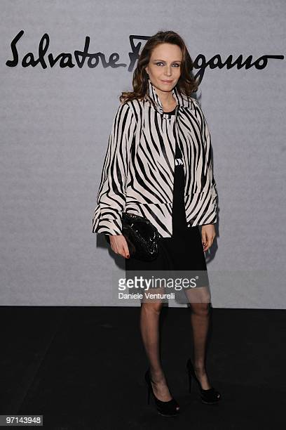 Francesca Neri attends Greta Garbo The Mystery Of Style opening exhibition during Milan Fashion Week Womenswear A/W 2010 on February 27 2010 in Milan...
