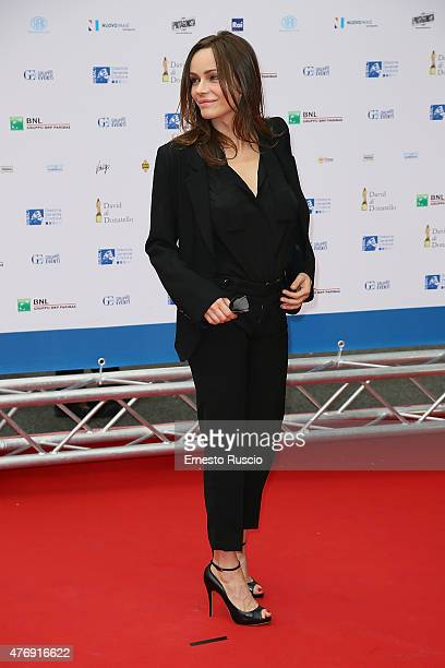 Francesca Neri attends the '2015 David Di Donatello' Awards Ceremony at Teatro Olimpico on June 12 2015 in Rome Italy