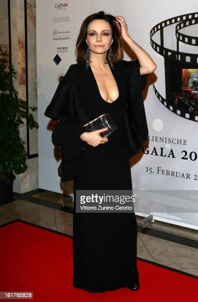 Francesca Neri attends the 'Notte Delle Stelle' during the 63rd Berlinale International Film Festival at the Maritim Hotel on February 15, 2013 in...