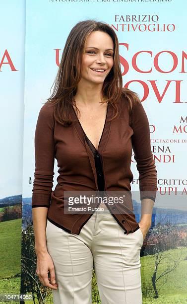 Francesca Neri attends the Una Sconfinata Giovinezza photocall at La Casa Del Cinema on October 4 2010 in Rome Italy
