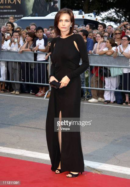 Francesca Neri during 2002 Venice Film Festival Opening Night Frida Premiere at Palazzo Del Cinema in Venice Lido Italy