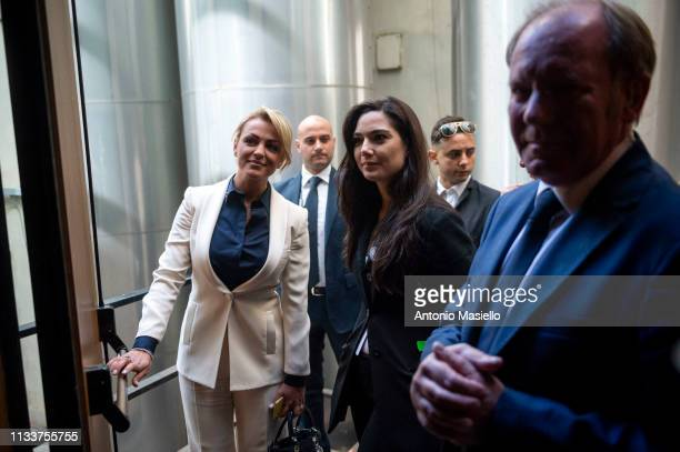 Francesca Pascale companion of Silvio Berlusconi attends a meeting of centreright political party Forza Italia on March 30 2019 in Rome Italy The...