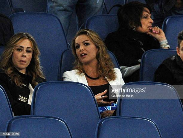 Francesca Pascale girlfriend of Silvio Berlusconi attends the TIM Cup final match between ACF Fiorentina and SSC Napoli at Olimpico Stadium on May 3...