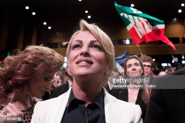 Francesca Pascale partner of Italy's former Prime Minister and Leader of Forza Italia Party Silvio Berlusconi attends the 25th years celebrations of...