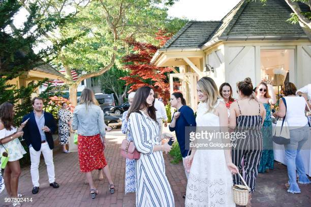 Francesca Pasini and Sarah Bray attend the Modern Luxury Sam Edelman Summer Fashion Event on July 12 2018 in Southampton New York