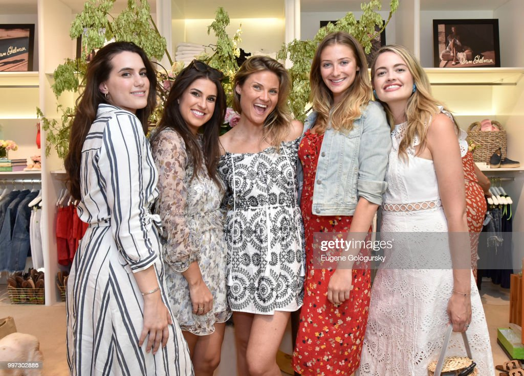 Francesca Pasini, Ashley Donohoe, Lizzi Bickford, Jessica Sodokoff and Sarah Bray attend the Modern Luxury + Sam Edelman Summer Fashion Event on July 12, 2018 in Southampton, New York.