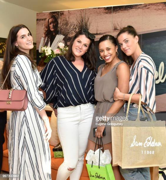 Francesca Pasini Caitlin Donohoe Edythe Collins and Savanah Donohoe attend the Modern Luxury Sam Edelman Summer Fashion Event on July 12 2018 in...