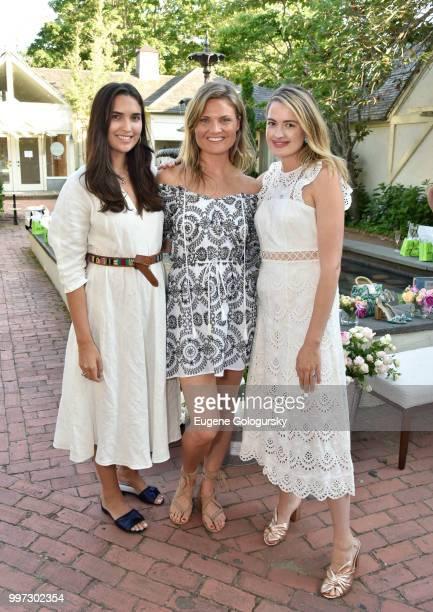 Francesca Pasini Lizzi Bickford and Sarah Bray attend the Modern Luxury Sam Edelman Summer Fashion Event on July 12 2018 in Southampton New York