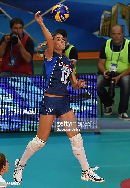 Francesca Piccinini of Italy in action during the FIVB Women's World Championship pool E match between Italy and Japan on October 4, 2014 in Bari,...
