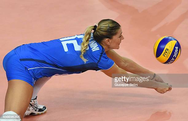 Francesca Piccinini of Italy in action during the FIVB Women's World Championship pool E match between Italy and China on October 5, 2014 in Bari,...