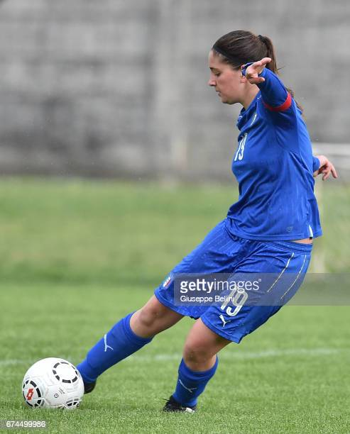 Francesca Quazzico of Italy U16 in action during the 2nd Female Tournament 'Delle Nazioni' match between Italy U16 and Belgium U16 on April 28, 2017...