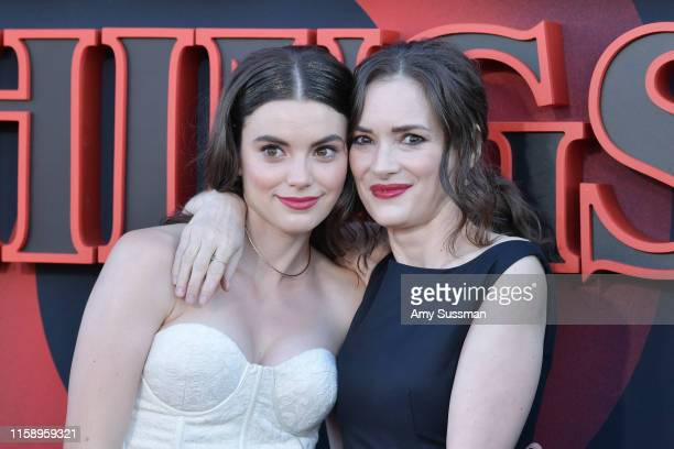 "Francesca Reale and Winona Ryder attend the premiere of Netflix's ""Stranger Things"" Season 3 on June 28, 2019 in Santa Monica, California."
