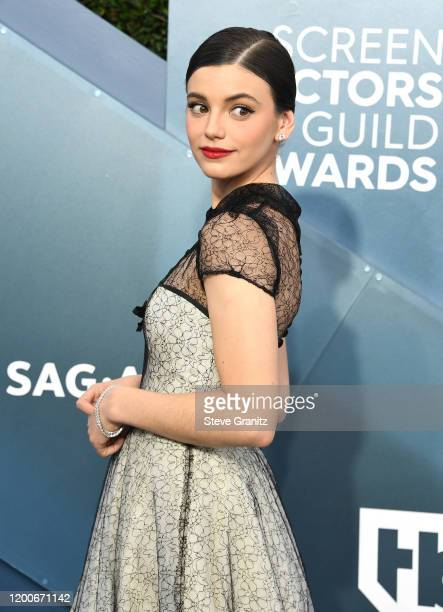 Francesca Reale arrives at the 26th Annual Screen Actors Guild Awards at The Shrine Auditorium on January 19 2020 in Los Angeles California