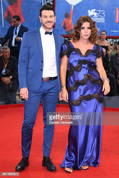 Francesca Rettondini and a guest attend the closing ceremony of the 73rd Venice Film Festival at Sala Grande on September 10 2016 in Venice Italy