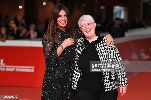 Francesca Rettondini and Letizia Espanoli from Il Cioccolatino movie walk the red carpet ahead of the Il Flauto Magico Di Piazza Vittorio screening...