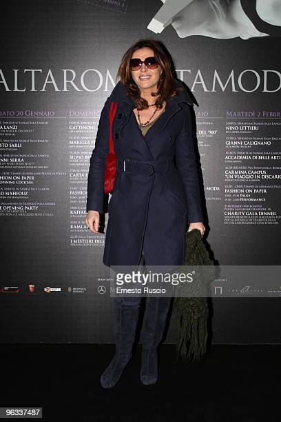 Francesca Rettondini attends Lorenzo Riva fashion show as part of the Rome Fashion Week Spring / Summer 2010 on 1 February 2010 in Rome Italy