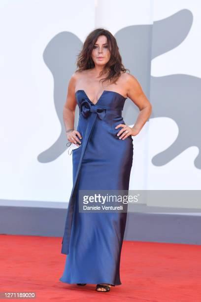 "Francesca Rettondini walks the red carpet ahead of the movie ""Sniegu Juz Nigdy Nie Bedzie"" at the 77th Venice Film Festival on September 07, 2020 in..."