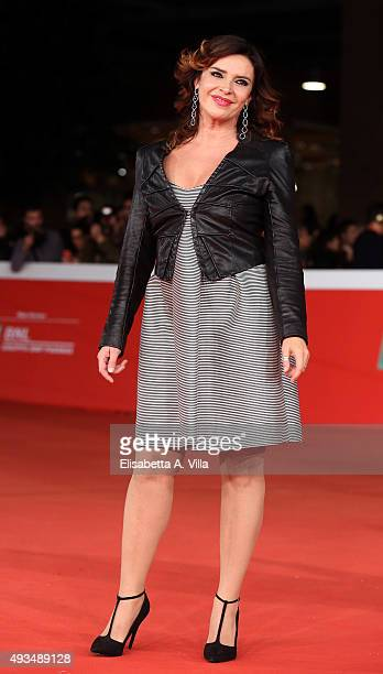 Francesca Rettondini walks the red carpet for 'VilleMarie' during the 10th Rome Film Fest at Auditorium Parco Della Musica on October 20 2015 in Rome...