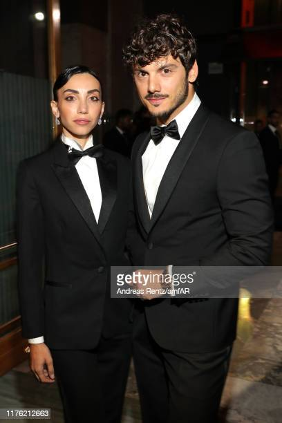 Francesca Rocco and Giovanni Masiero attend the amfAR Gala Milano 2019 at Palazzo Mezzanotte on September 21 2019 in Milan Italy