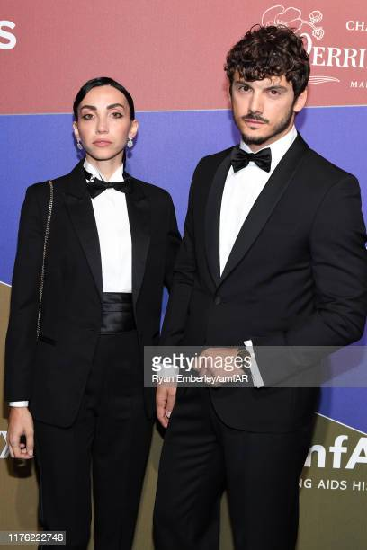 Francesca Rocco and Giovanni Masiero attends the amfAR Gala Milano 2019 at Palazzo Mezzanotte on September 21 2019 in Milan Italy