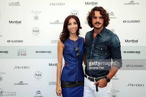 Francesca Rocco and Giovanni Masiero attends the Villa Laguna during the 72nd Venice Film Festival at Hotel Villa Laguna on September 4 2015 in...