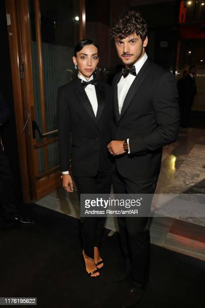 Francesca Rocco and Giovanni Masiero during the amfAR Gala Milano 2019 at Palazzo Mezzanotte on September 21 2019 in Milan Italy