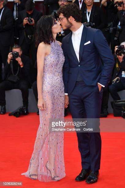 Francesca Rocco and Giovanni Masiero walks the red carpet ahead of the 'The Sisters Brothers' screening during the 75th Venice Film Festival at Sala...