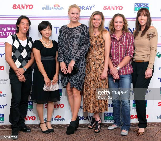 Francesca Schiavone of Italy Kurumi Nara of Japan Caroline Wozniacki of Denmark Vera Zvonareva of Russia Samantha Stosur of Australia and Jelena...