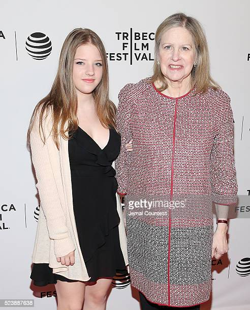 Francesca Scorsese and Helen Scorsese attend the Almost Paris Premiere at Chelsea Bow Tie Cinemas on April 24 2016 in New York City