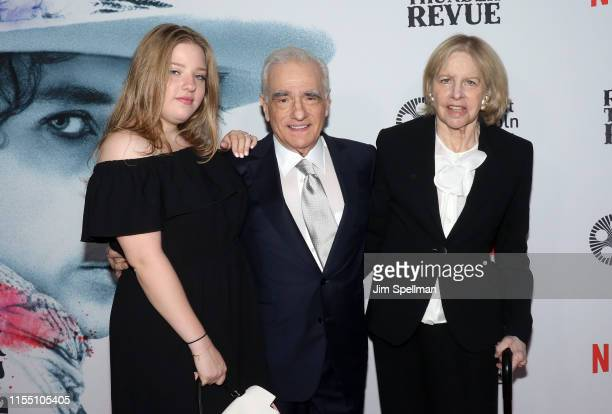 Francesca Scorsese director Martin Scorsese and Helen Morris attend the Rolling Thunder Revue A Bob Dylan Story By Martin Scorsese New York screening...